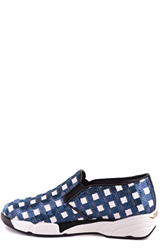 Pinko Damen Mcbi242222o Blau Stoff Slip On Sneakers