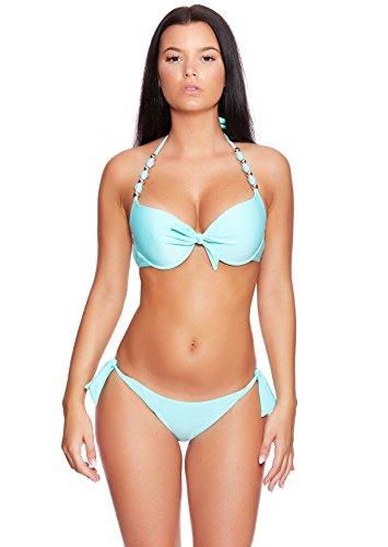 Versandhandel Henry Musch-Malinowski - Conjunto - para mujer Bikini Light Turquoise B10(1404)