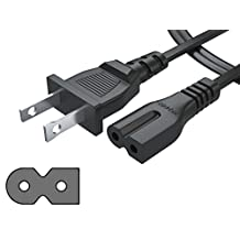 [UL Listed] Pwr+ NEMA 1-15P to IEC320C7 Short 3 Ft 2 Prong Polarized Power Cord for Arris Router Modem; Vizio, Sharp Sanyo Emerson TV; Sony PlayStation 1 2 PS1 PS2; Bose Companion 3 5 Speaker Audio System AC Wall Cable