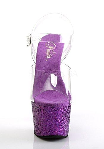 purple Clr Adore Col 708lg Glitter Tacco Scarpe Pleaser Donna Multi pw0YHqH