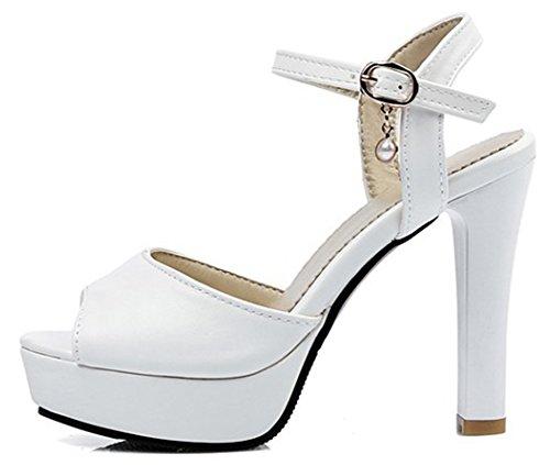 Blanc Aisun Spécial Sandales Bride Plateforme Arrière rxX7n78qw