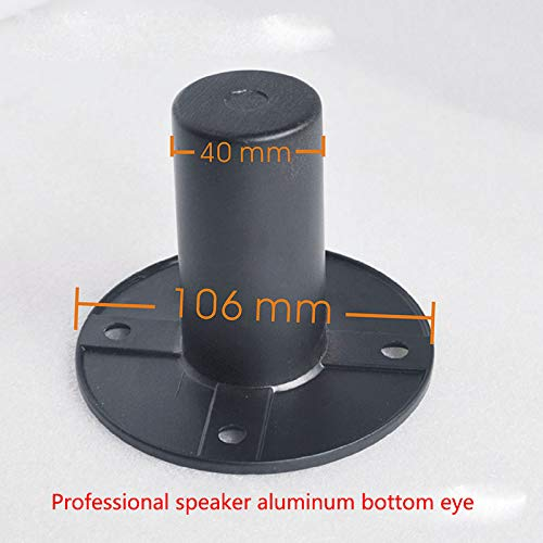 Gimax 10pcs/lot Professional stage thick aluminum alloy speaker bottom eye speaker bracket support seat connector - (Color: black)