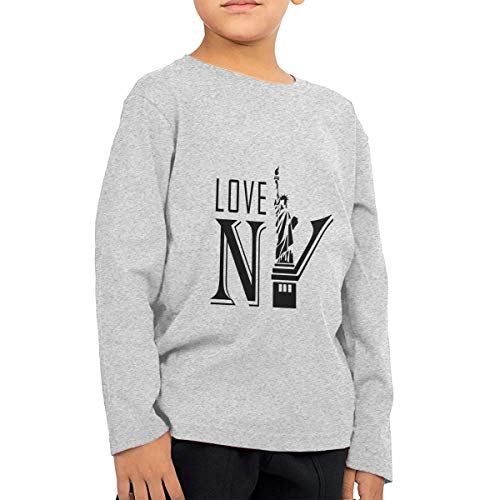 SARA NELL New York Statue of Liberty Kids Long Sleeve T-Shirt for Boys&Girls 2-6T