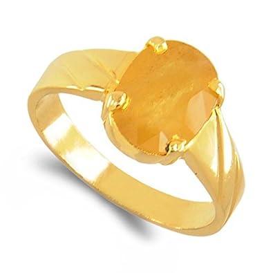 Buy Dinesh Enterprises Certified Natural Yellow Sapphire 5 60 Ct