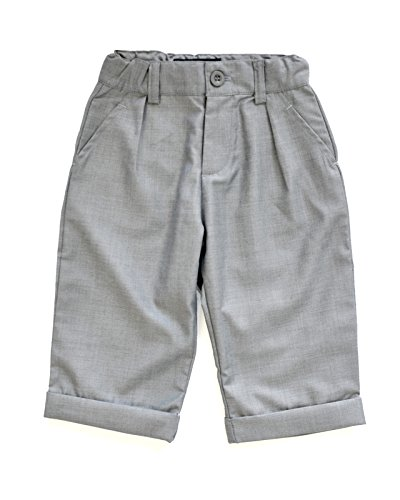 Littlest Prince Couture Infant/Toddler Gray Dress Pants 12
