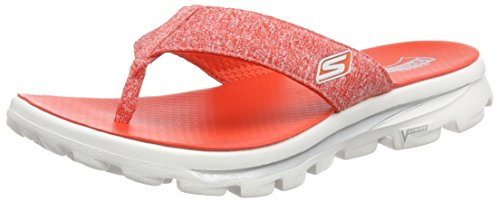 Skechers Go Walk Move Solstice Womens Flip Flop Sandals Red/White - Solstice Usa