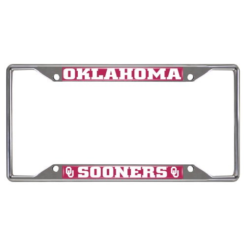 Fanmats NCAA University of Oklahoma Sooners Chrome License Plate Frame by Fanmats