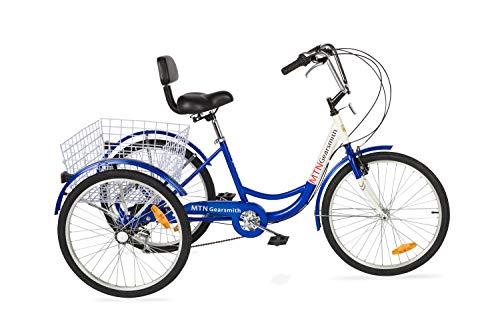 Komodo Cycling 24″, 6-speed Adult Tricycle #7002 – Komodo (85% Preassembled + 1 Year Warranty)