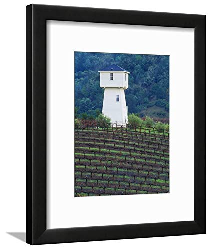 ArtEdge Silver Oak Cellars, Alexander Valley Wine Country, California by John Alves, Black Matted Wall Art Framed Print, 12x9 -