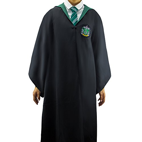 Adult Harry Potter Slytherin Robe (Harry Potter Robe  - Slytherin Wizard Robe - Size SMALL - Cinereplicas)