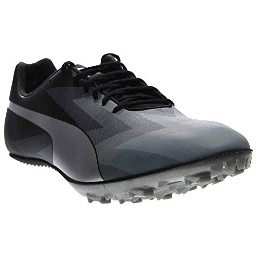 PUMA Mens Evospeed Sprint V6 Running Shoes Black-Quarry Silver Size 14