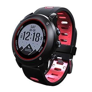 Pandiki GPS Impermeable de Deportes al Aire Libre Reloj en Marcha a Caballo multifunción Inteligente Reloj de Pulsera de Reloj de Bluetooth UW90