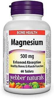 Webber Naturals Magnesium, Tablet, 500 mg, 60 Count