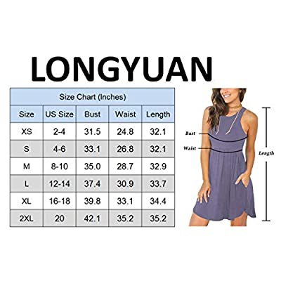 LONGYUAN Women's Summer Casual T Shirt Sundress Swimsuit Cover Ups with Pockets at Women's Clothing store