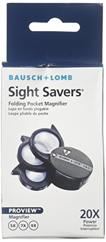 Bausch & Lomb Folding Pocket Magnifier, 5-20x by Bausch & Lomb