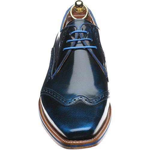 Herring aringa Lewis Brogue in blu Hi Shine, Blu (Blue Hi Shine), 44