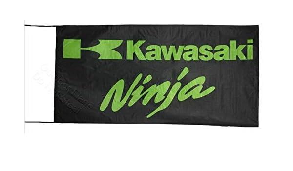 Cyn Flags Kawasaki Ninja Bandera 2.5x5 ft 150 x 75 cm ...