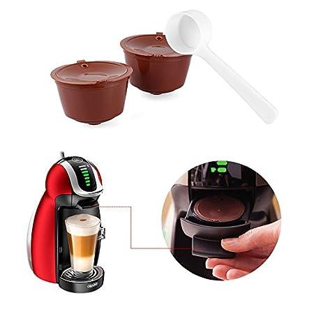 ketobk LemonBest 2pcs Dolce Gusto cápsulas de café cápsula de plástico rellenable reutilizable Compatible con todos los modelos de Nescafe Dolce Gusto: ...