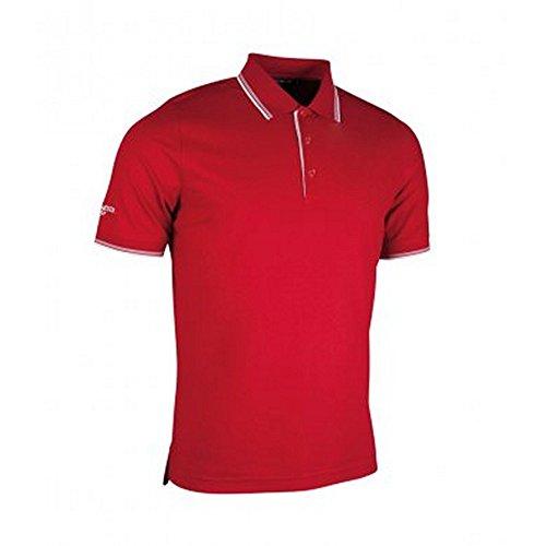 (グレンミューラー) Glenmuir メンズ ラインカラー 吸湿ドライ 半袖ポロシャツ スポーツポロ トレーニングシャツ ゴルフ 夏