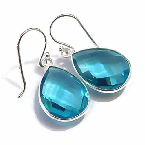 ICE ROCK CANDY TEARDROP SHAPED 925 SOLID STERLING SILVER DROP EARRINGS by New England Jewelry Designs