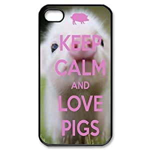 DDOUGS Piggy Customized Cell Phone Case for Iphone 4,4S, Personalised Piggy Case