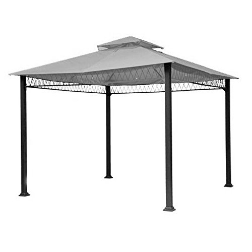 Garden Winds Replacement Canopy Top Cover for Havenbury Gazebo - Riplock 350 - Slate Gray