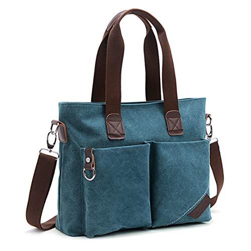 (ToLFE Women Top Handle Satchel Handbags Tote Purse Shoulder Bag (Blue))