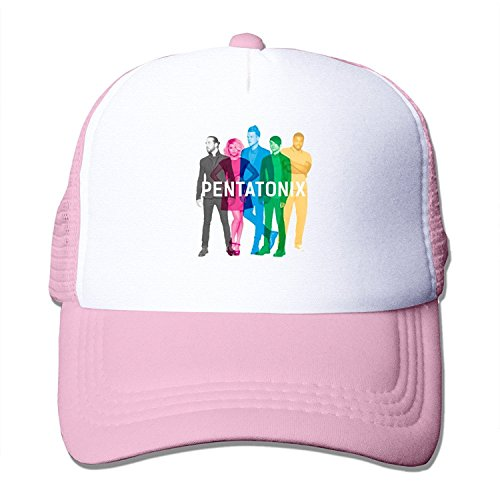 BAI XUE Pentatonix Music Band Adjustable Mesh Back Cap Pink (Christmas Drummer Pentatonix Little Boy)