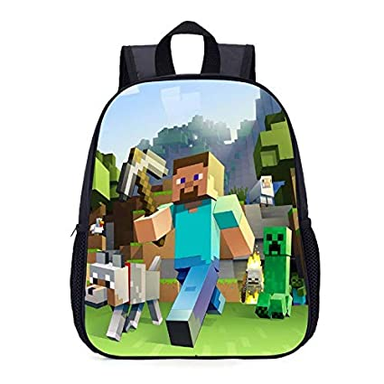 29b2947ce22b Image Unavailable. Image not available for. Color  Newest Children School  Bags Minecraft Cartoon Backpack Pupils Printing Bag ...
