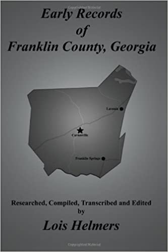 Book Early Records of Franklin County, Georgia