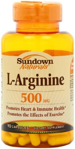 Sundown L-Arginine 500 mg, 90 Capsules Pack of 2