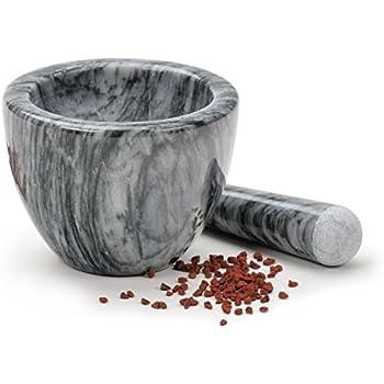 RSVP Gorgeous Grey Marble Mortar & Pestle