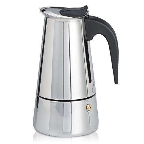 Xavax Cafetera espresso para 6 tazas de café aromático, cafetera para inducción, gas, cocina eléctrica o vitrocerámica…