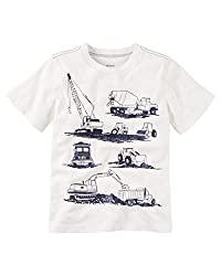 Carter's Boy S/S Construction Tee; Ivory (3M)