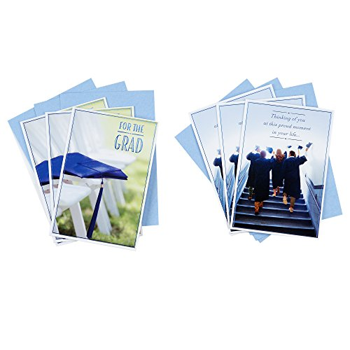 Cap Card Business (Hallmark Graduation Greeting Card Assortment (6 Cards/2 Designs, 6 Envelopes, Graduates On Steps Graduation Cap))