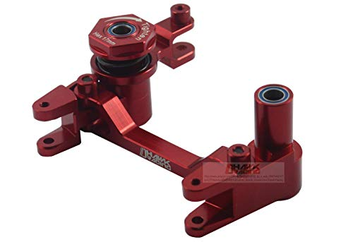 Dhawk Racing Aluminum Steering Bellcrank w/Bearing Red for Traxxas Unlimited Desert ()