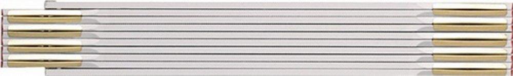 BMI 980904200 Metro plegable de madera de haya, blanco