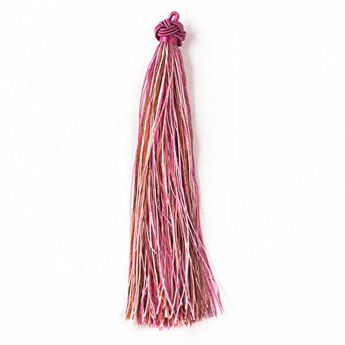 Cherry Blossom Beads Nylon Tassels 2pk Strawberry and Cream Mix - 5 Inch (Cherry Sewing)