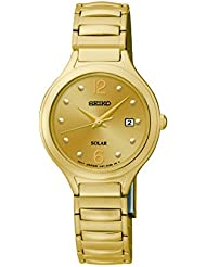 Seiko Womens SUT180 Analog Display Japanese Quartz Gold Watch