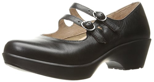 Dansko Women's Josie Mary Jane Flat, Black Nappa, 40 EU/9.5-10 M US by Dansko