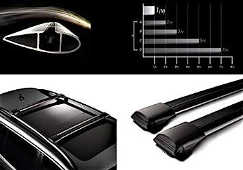 HippoBar Aerodinamica & Bloccabile Barre Portatutto per Jeep
