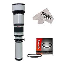 Opteka 650-1300mm HD Telephoto Lens with 95mm UV Filter for Nikon D4s, D4, Df, D810, D800, D750, D610, D600, D7200, D7100, D7000, D5500, D5300, D5200, D5100, D3300, D3200 and D3100 Digital SLR Cameras