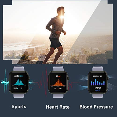 Fitness Tracker Watch Smart Watch for Android Phones Fitness Watches for Men Women Sports Activity Tracker Smartwatch Compatible with iPhone Samsung iOS with Pedometer with Heart Rate Waterproof 41XLbMCd7rL