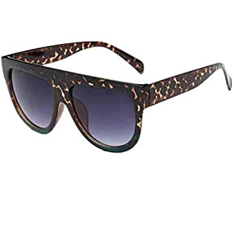 Amazon.com: Men Women Square Vintage Mirrored Sunglasses