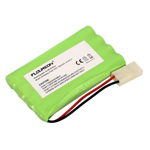 (FLOUREON 9.6V 1800mAh 8 Cell Ni-MH Rechargeable Replacement RC Battery Pack with Tamiya Connector for RC Cars Boat Robot Security)