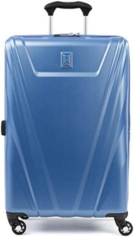 Travelpro Maxlite 5 Hardside Lightweight Expandable Luggage, Azure Blue, Checked-Medium 25-Inch