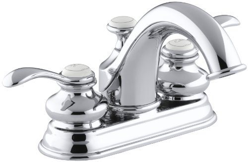KOHLER K-12266-4-CP Fairfax Centerset Lavatory Faucet, Polished Chrome (Fairfax Faucet compare prices)