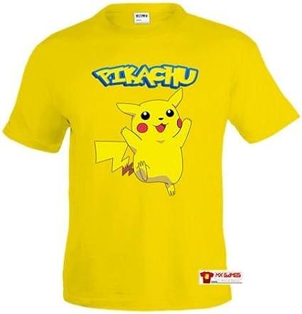 Mx Games Camiseta Pokemon Pikachu Amarilla Manga Corta (Talla: 11-12 años): Amazon.es: Juguetes y juegos