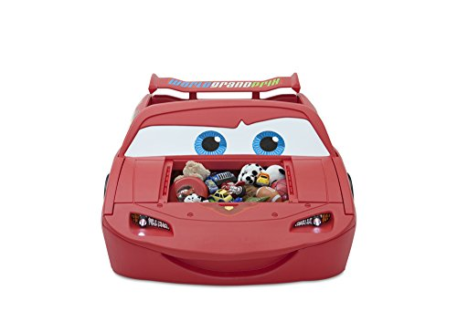 Delta Children Cars Lightning Mcqueen Toddler-To-Twin Bed with Lights and Toy Box, Disney/Pixar Cars 6