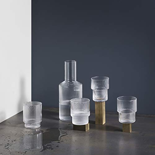 Ferm Living Ripple Karaffe, Glas